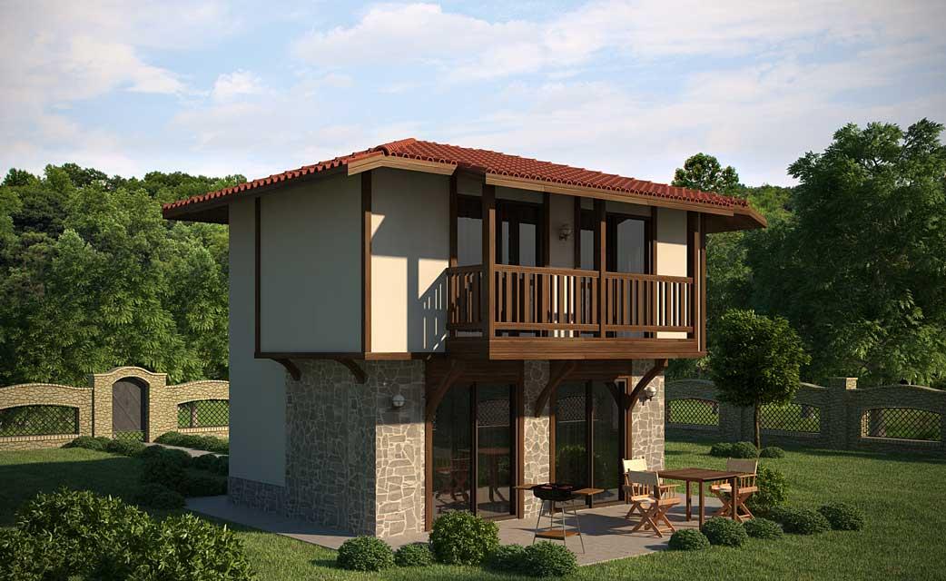 Проект на сглобяема къща Bertina 90 м2