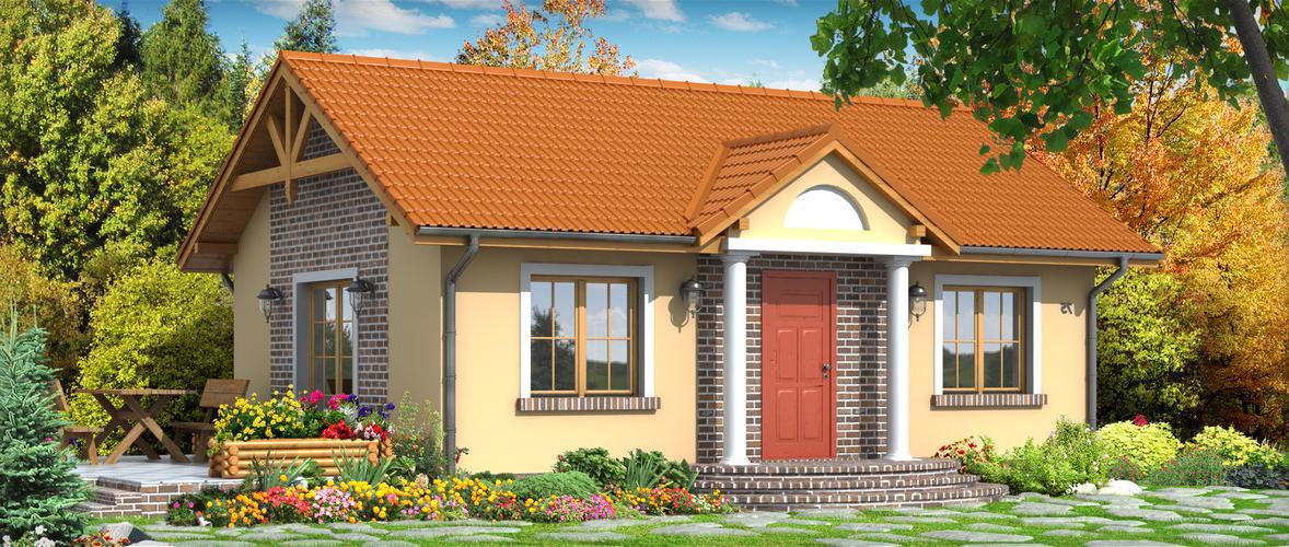 Проект на сглобяема къща Rosina 70 м2