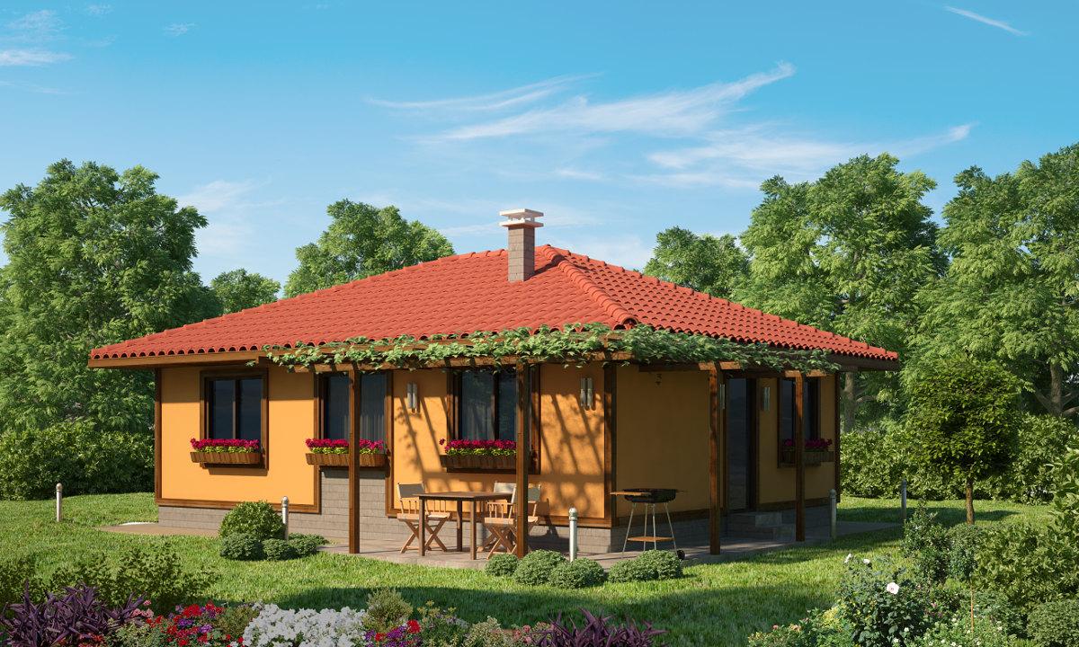 Проект на сглобяема къща Beatrice 70 м2