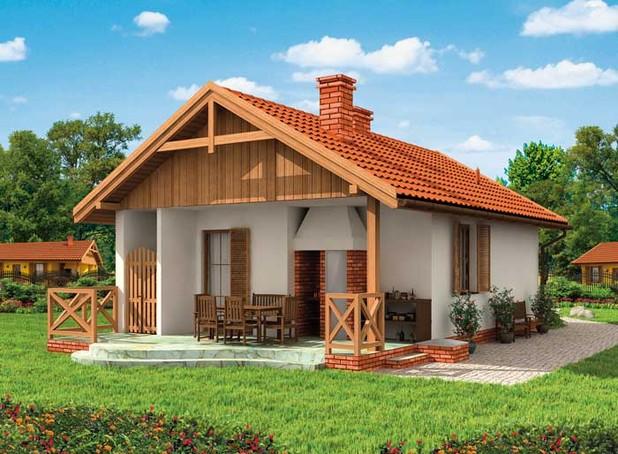 Проект на сглобяема къща Siyana 50 м2 + 16 м2 веранда