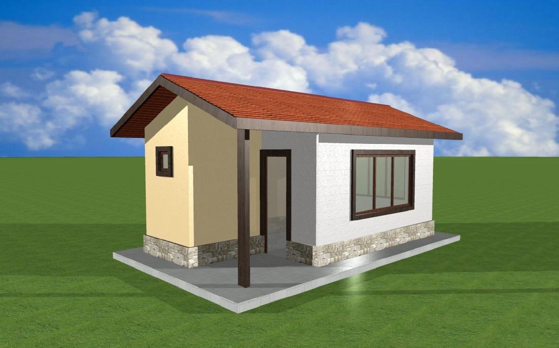 Проект на сглобяема къща Lia 20 кв.м.