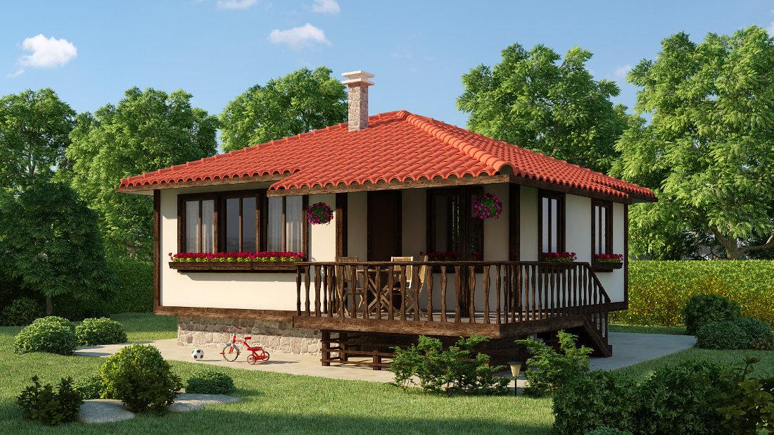 Проект на сглобяема къща Азалиа 60 м2