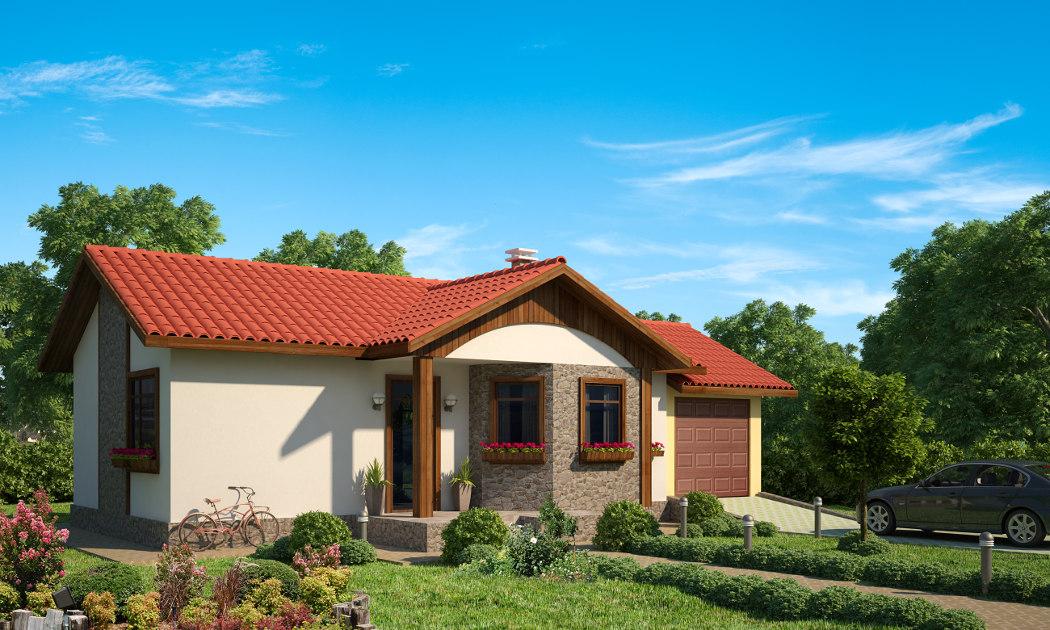 Проект на сглобяема къща Gergana 88 м2