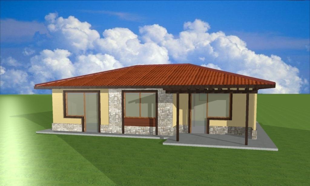 Проект на сглобяема къща Mira 87 м2