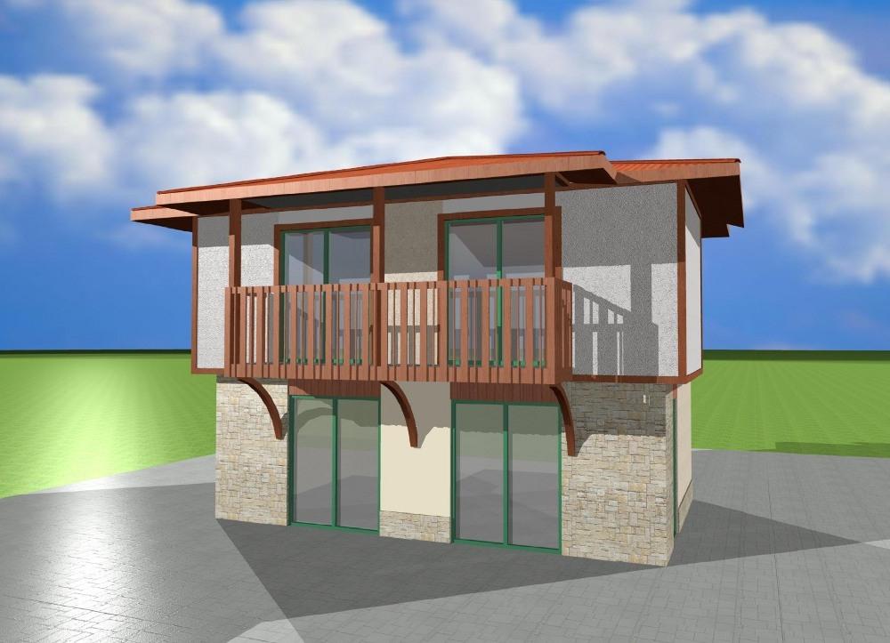 Проект на сглобяема къща Sozopol 96 м2