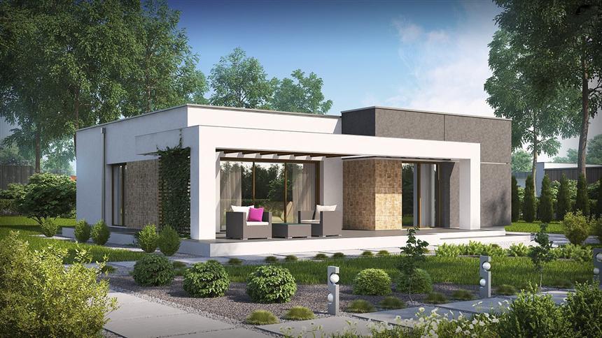 Проект на сглобяема къща 107,9 кв.м.