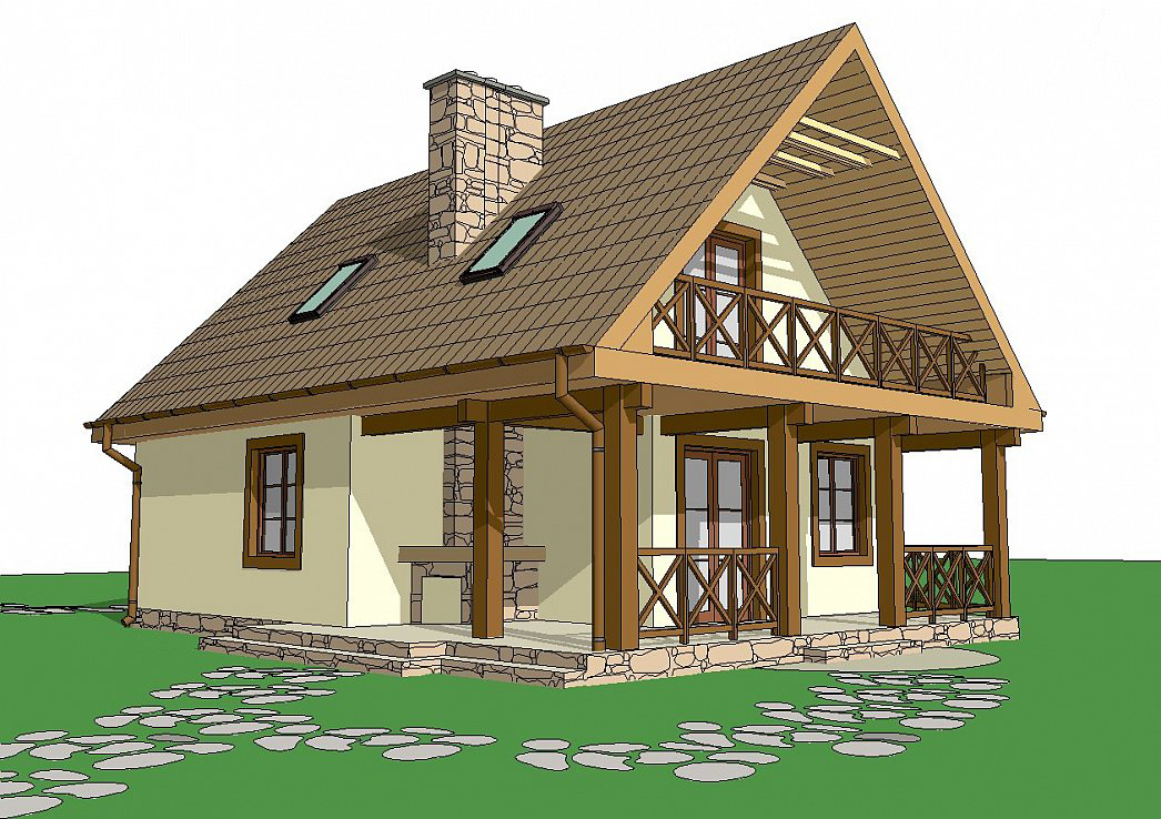 Проект на сглобяема къща 106 кв.м.