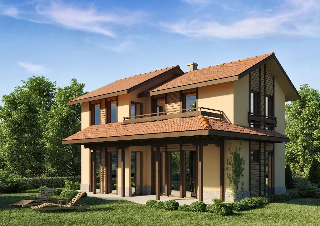 Проект на сглобяема къща 130 кв.м.