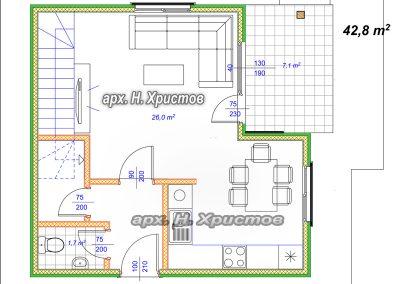 Хубав дом 80m2 - +0,00