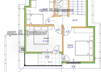 Разпределение къща 110 кв.м.-2