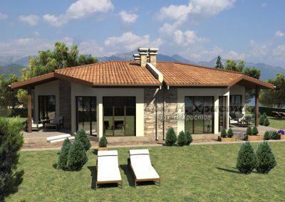 Проект на къща Близнак с РЗП 120 кв.м.