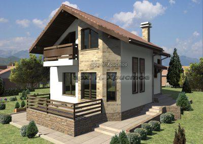 Проект на сглобяема къща 127 кв.м.