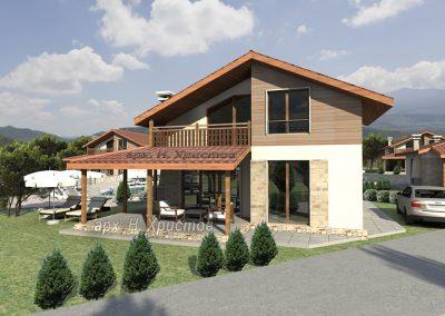Проект на сглобяема къща 110 кв.м.
