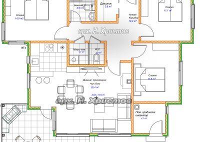 Сглобяема къща Хубав дом 105 кв.м. разпределение