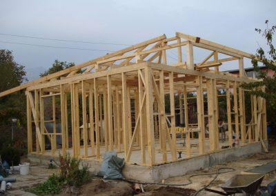 13 скелетно гредова конструкция на сглобяема къща в гр Сливен 51 кв.м.