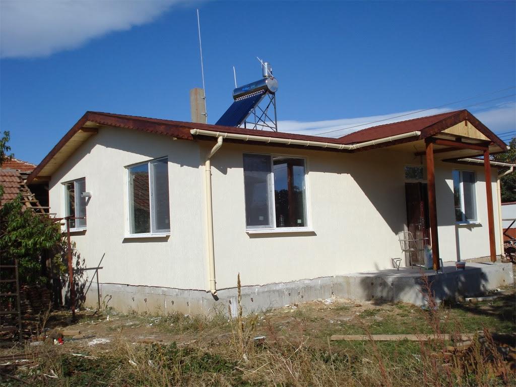 7 Сглобяема къща с мазилка и ПЖЦ улуци Лидия 80 кв.м.