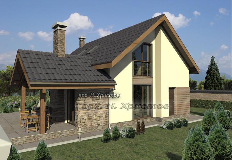 Проект на сглобяема къща 180 кв.м.