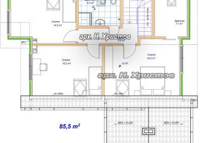 Хубав дом 180 м2 -2ри етаж