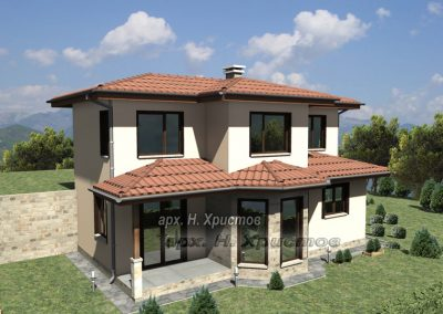 Проект на сглобяема къща 156 кв.м.