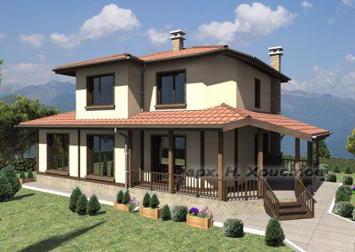 """Проект на сглобяема къща """"Belisima"""" 152кв.м."""