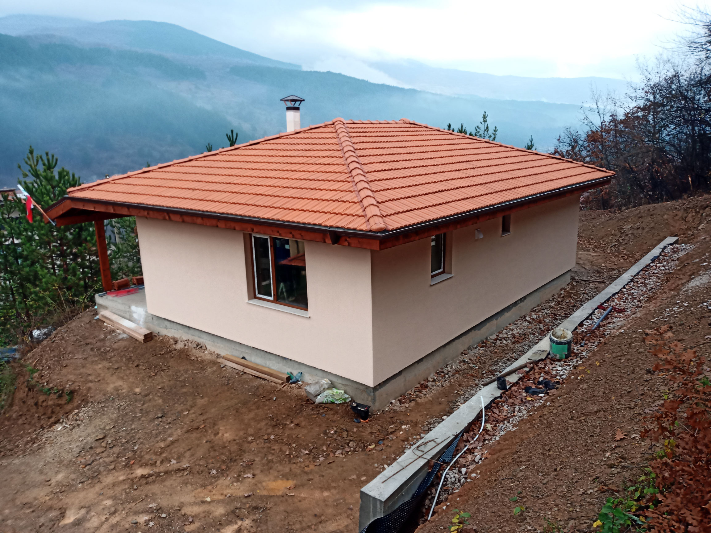 6-завършена-къща-Искрец-66,70-м2-изглед-отгоре