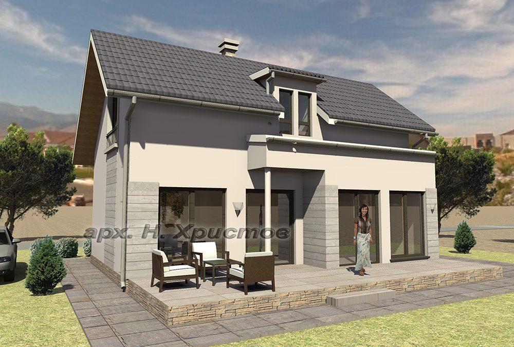 Проект на къща с РЗП 103 кв.м.