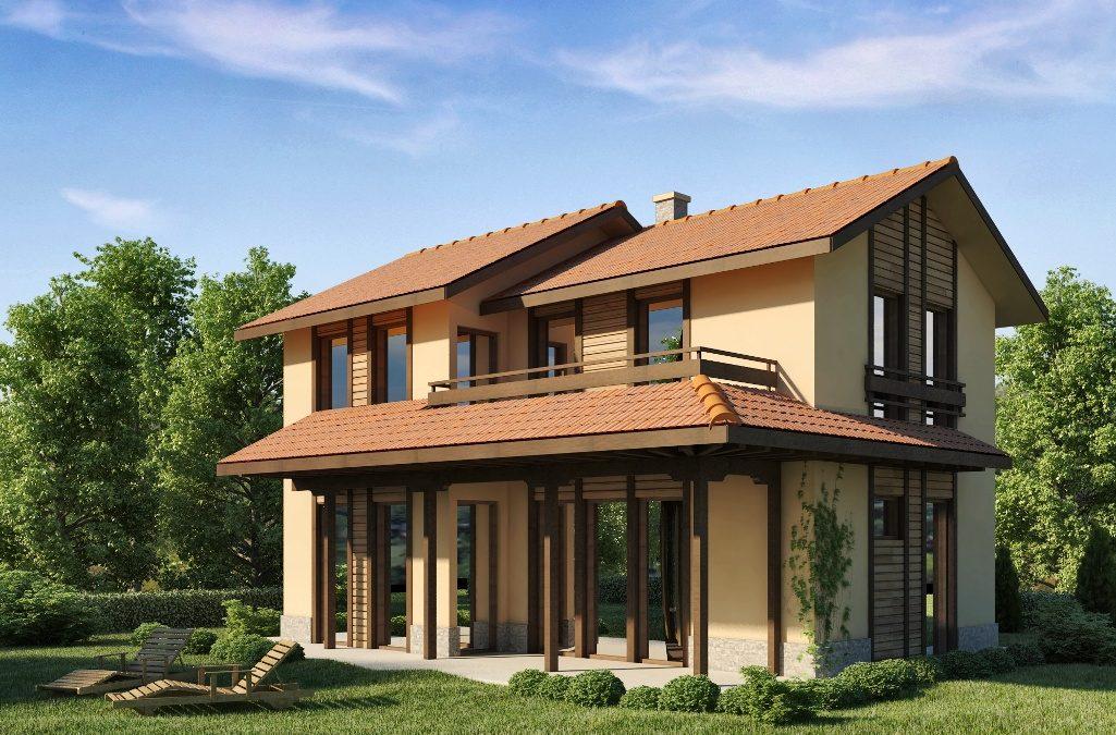 Проект на къща с РЗП 130 кв.м.