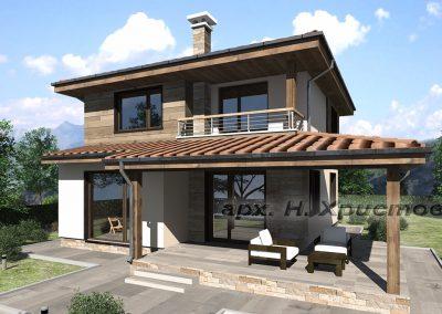 Проект на къща с РЗП 154 кв.м.