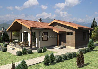 Проект на къща с РЗП 104,8 кв.м.
