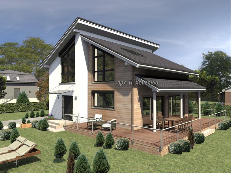 Проект на сглобяема къща с РЗП 200 кв.м.